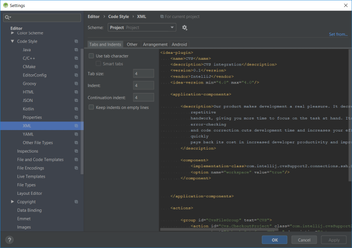 Android Studio 3 4: XML Formating | Lua Software Code
