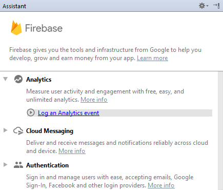 Android Studio Firebase Analytics
