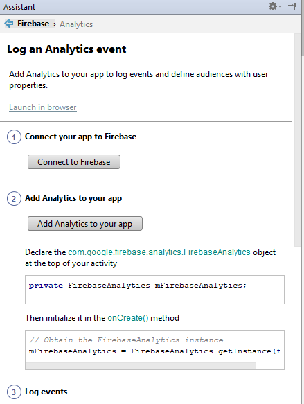 Android Studio Add Analytics to your app